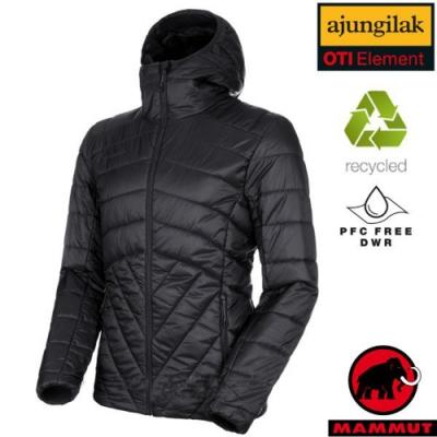 長毛象 男新款 Rime IN Hooded 超輕量化纖保暖連帽外套_黑