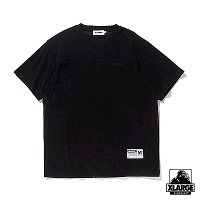 XLARGE S/S TERRY FOOTBALL T 短袖T恤-黑