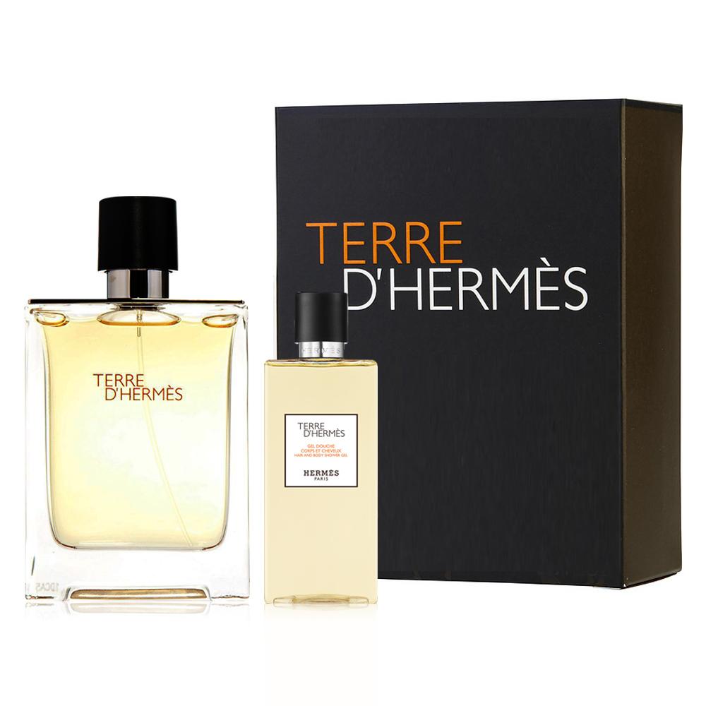 Hermes  愛馬仕大地男性淡香水二件式組禮盒(香水100ml+沐浴精80ml)