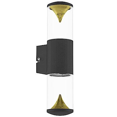 EGLO歐風燈飾 現代雙色LED塑膠圓筒壁燈/門牌燈(不含燈泡)