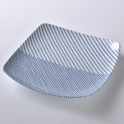 日本 Hakusan   重紋 方型淺盤  21x21cm