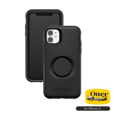 OtterBox Otter+Pop iPhone 11(6.1吋)專用 防摔吸震保護殼-Symmetry炫彩幾何泡泡騷系列■黑