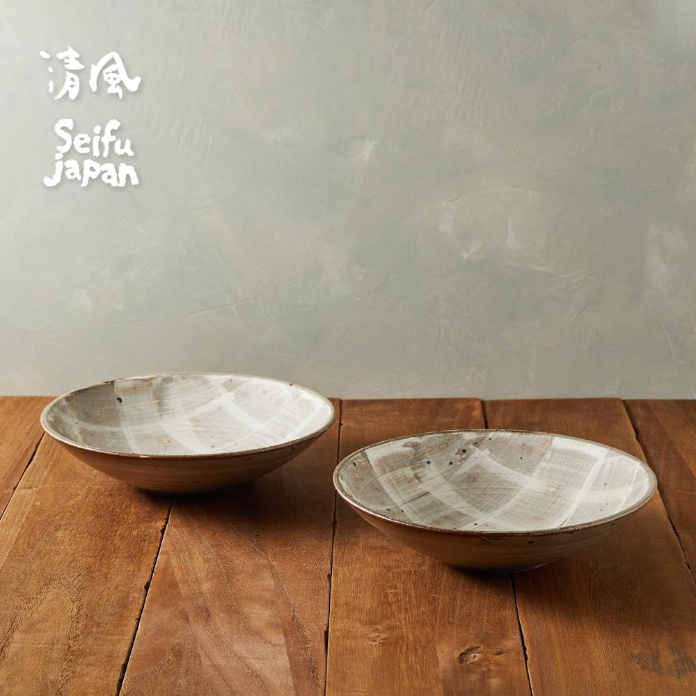 有種創意 日本美濃燒 -粉引質感深盤組21.5cm (2件式)