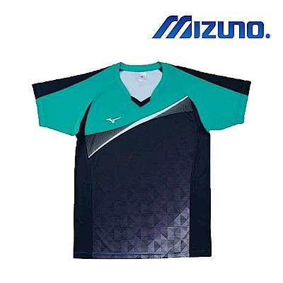 MIZUNO 美津濃 男女短袖排球T恤 綠 V2TA7G1737
