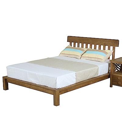 文創集 克里斯時尚5尺實木雙人床架(不含床墊)-162x206x100cm免組