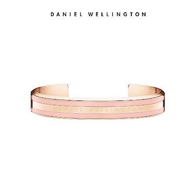 DW 手環 Classic Bracelet 時尚奢華手鐲 玫瑰金x粉紅-M