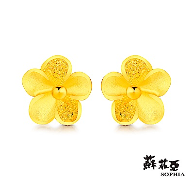 蘇菲亞SOPHIA - GOLD GRACEFUL系列梅釀黃金耳環