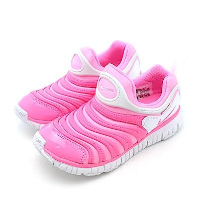 NIKE-DYNAMO FREE 中大童跑步鞋-螢光粉