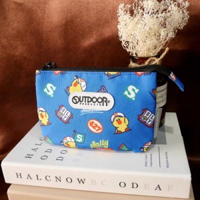 【OUTDOOR】LINE聯名款-校隊莎莉三層零錢包-藍色 ODBF20C02BL