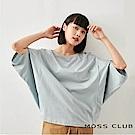 MOSS CLUB INLook 造型車線寬袖短袖T-shirt上衣(二色)