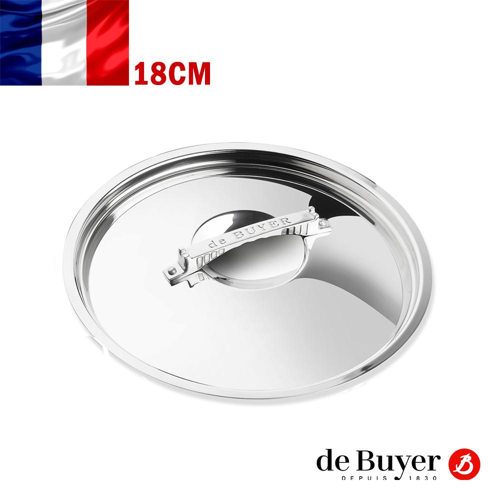 de Buyer畢耶 藍嶽頂級系列-不鏽鋼造型握柄鍋蓋18cm