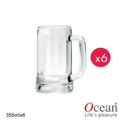 OCEAN 慕尼黑啤酒杯 355ML-小-6入組