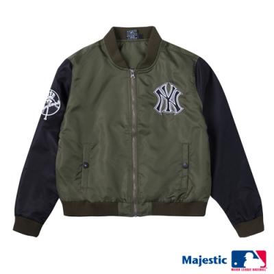 MLB - 洋基隊LOGO縮口薄外套-深綠 (女)