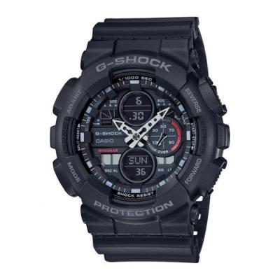CASIO卡西歐 G-SHOCK系列 復古手錶(GA-140-1A1)-黑/48.8mm