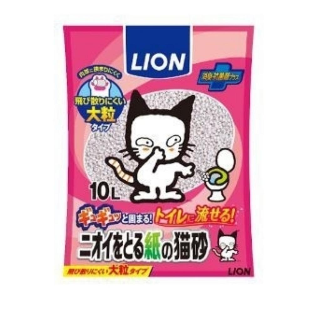 日本 LION 除臭紙砂 (大顆粒) 10L 三包組