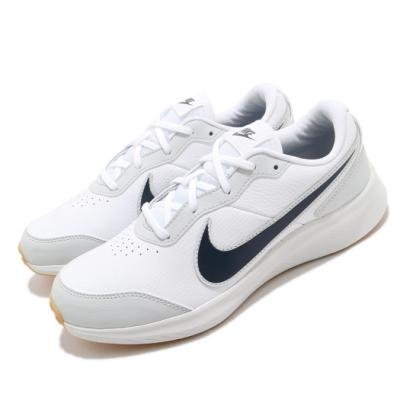 Nike 慢跑鞋 Varsity Leather 運動 童鞋 基本款 輕量 皮革 舒適 穿搭 大童 白 灰 CN9146100