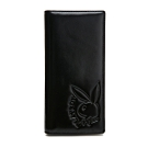 PLAYBOY- 翻蓋長夾  rabbithead系列-黑色