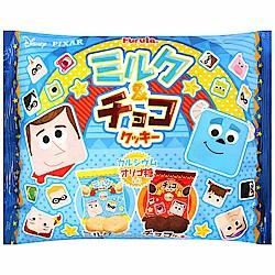 Furuta 玩具家族餅乾-牛奶&巧克力風味(120g)