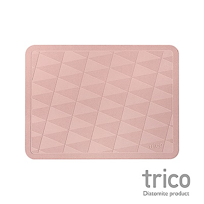 Trico 菱格瞬吸珪藻土地墊-粉紅