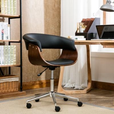 E-home Isla伊思拉可調式曲木電腦椅 黑色