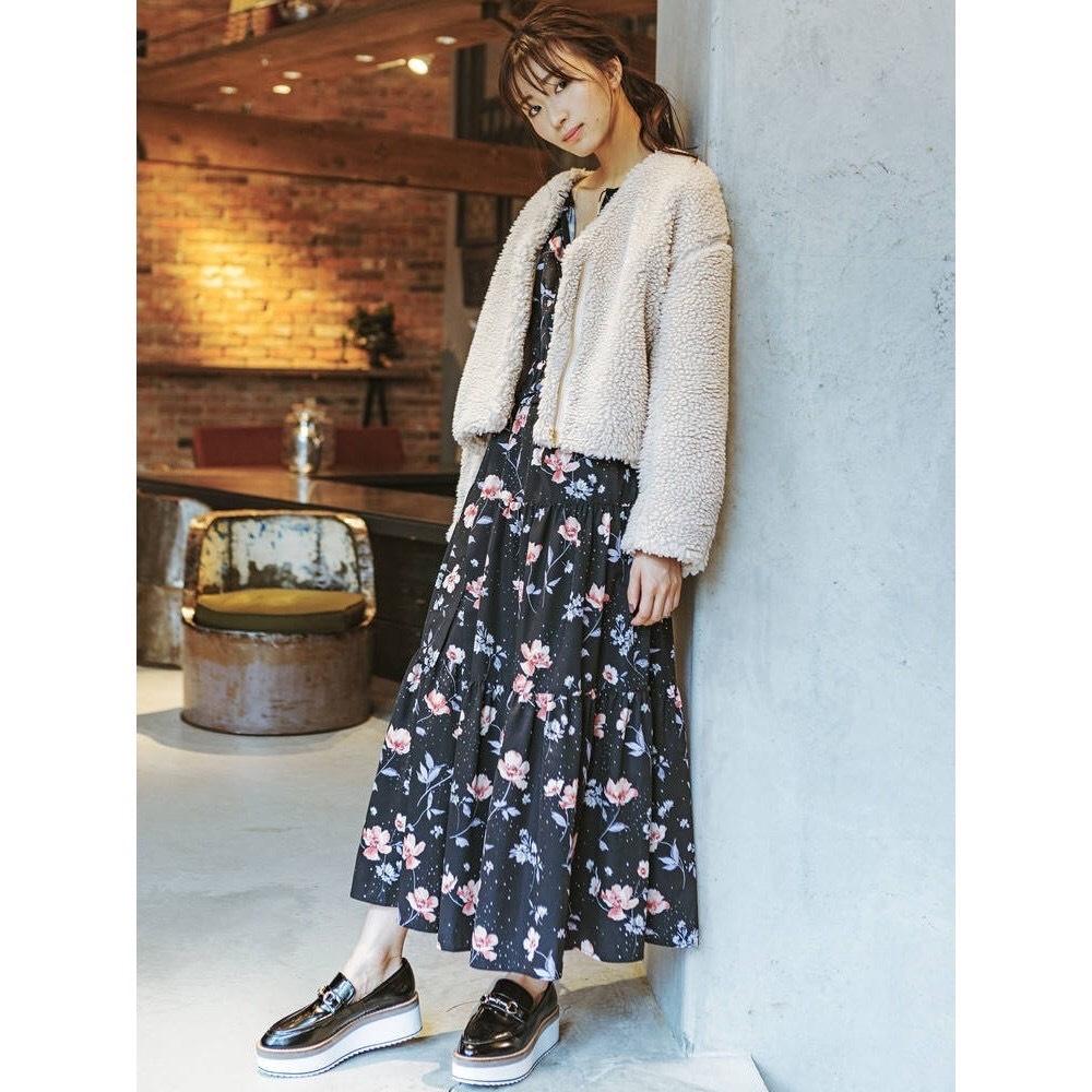 MERCURYDUO 花卉長袖綁帶洋裝(2色)