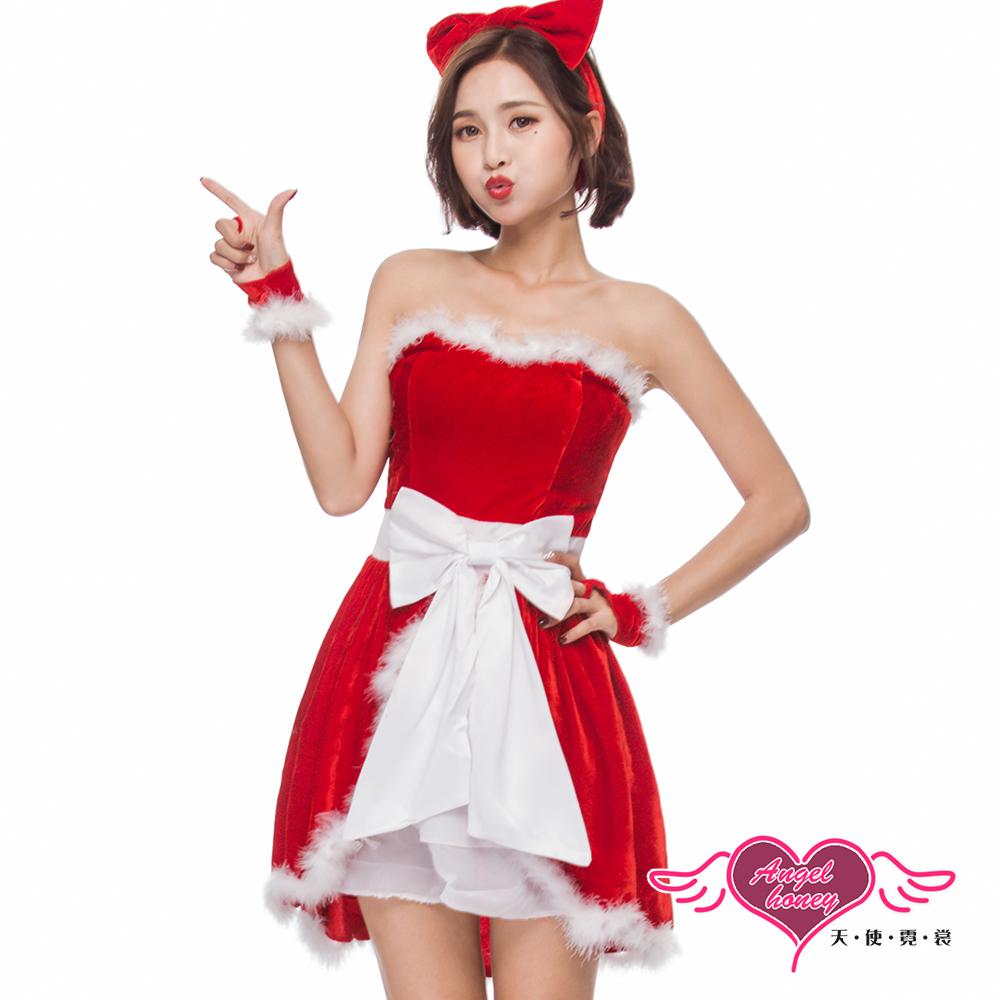 角色扮演 雪戀魔力 聖誕連身裙派對表演服(紅F) AngelHoney天使霓裳