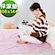 米夢家居-台灣製造-全方位超防水止滑保潔墊/生理墊/尿布墊(105x144cm)-粉紅城堡 product thumbnail 1