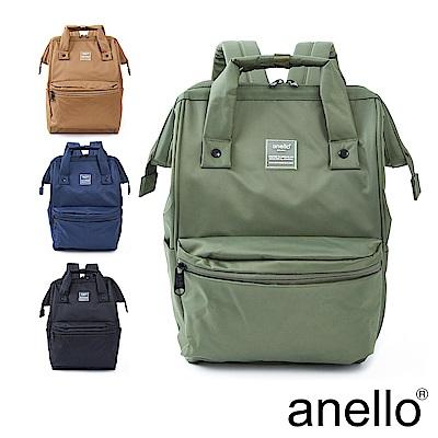 anello SHIFTⅡ 純色極簡百搭防潑水尼龍口金後背包 Regular
