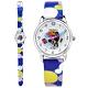 Disney 迪士尼 米奇系列 造型面板 日本機芯 兒童卡通錶 皮革手錶-銀x藍/28mm product thumbnail 1