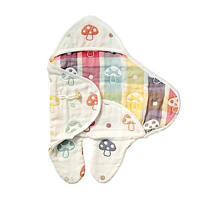 日本 Hoppetta 六層紗蘑菇包巾
