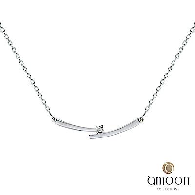 amoon 浪漫艾菲爾系列 攜手 9K金鑽石項鍊