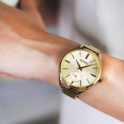 SEIKO精工 CS 50 周年紀念款小秒針女錶(SRKZ50P1)-35mm
