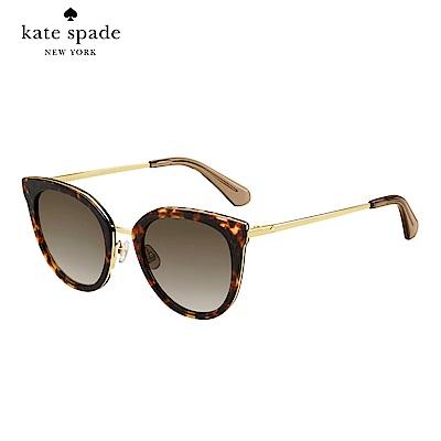 Kate Spade JAZZLYN/S-時尚貓眼太陽眼鏡 玳瑁色
