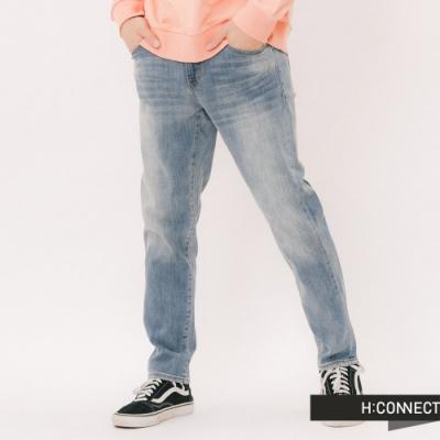 H:CONNECT 韓國品牌 男裝 -簡約刷色牛仔褲 - 藍