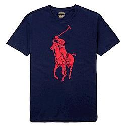 Polo Ralph Lauren 年度熱銷經典印刷大馬圓領短袖T恤-深藍色