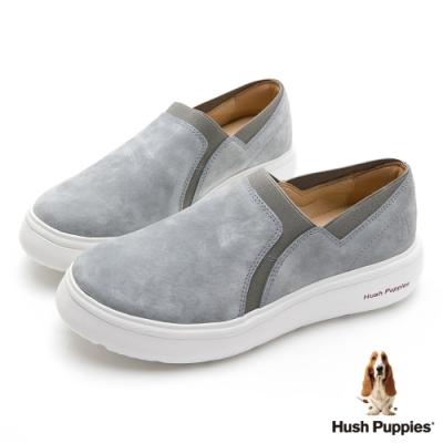 Hush Puppies 素色懶人休閒便鞋-灰色
