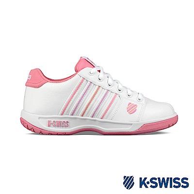 K-SWISS Eadall休閒運動鞋-女-白/莓紅