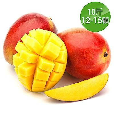 【愛上水果】外銷等級 台南在欉紅愛文芒果*1箱組(12-15顆/10斤/箱)