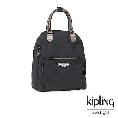 Kipling 後背包 復古質感黑-中