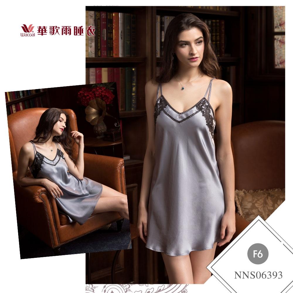 華歌爾睡衣-曖昧曲線 M-L性感裙裝(灰) 沙典