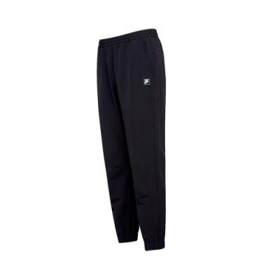 FILA 男平織長褲-黑 1PNT-5106-BK