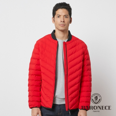 BARONECE 百諾禮士休閒商務 男裝 鋪棉球衣領夾克外套--紅色(1206791-75)