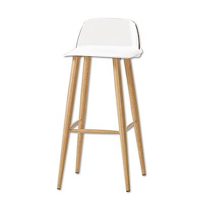 Boden-維琪簡約休閒吧台椅/高腳椅(三色可選)-二入-41x41x80cm