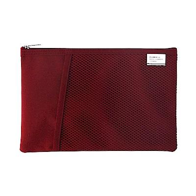 Livework 休閒風雙層對摺萬用收納袋V2-覆盆莓紅