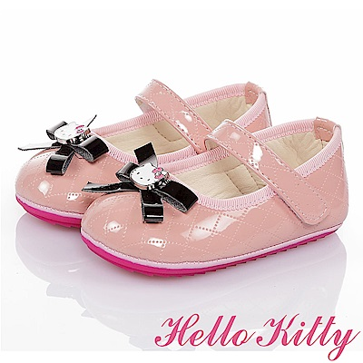 HelloKitty 氣質手工款高級超纖皮減壓寶寶學步鞋童鞋-粉