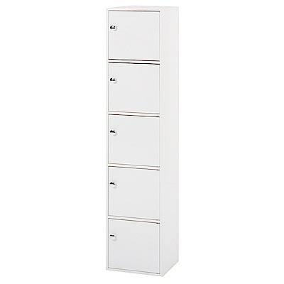 綠活居 阿爾斯時尚1.2尺塑鋼五門高收納櫃-34.5x31x159cm免組