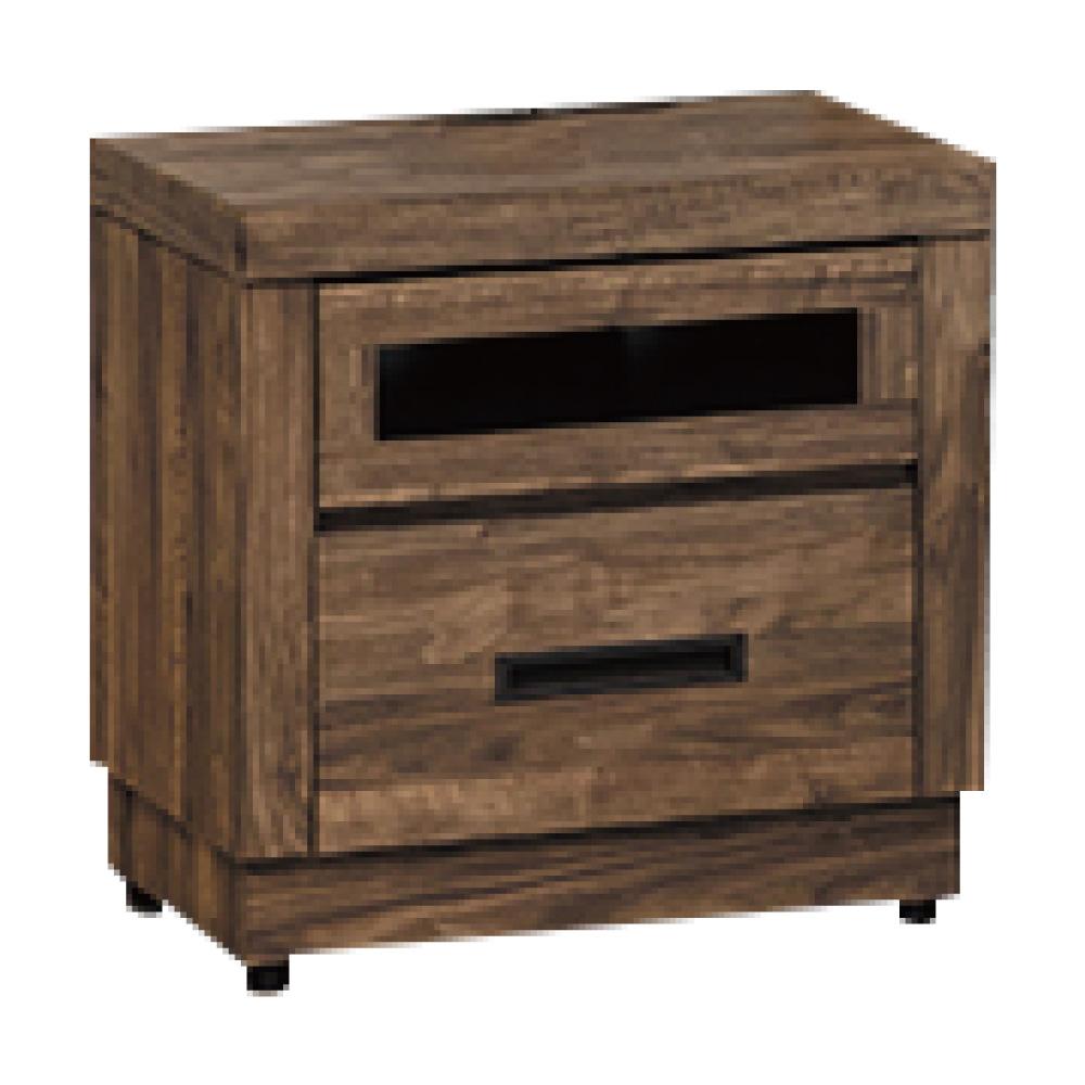 綠活居 邁可斯時尚1.8尺木紋床頭櫃/收納櫃-54x39x55cm免組