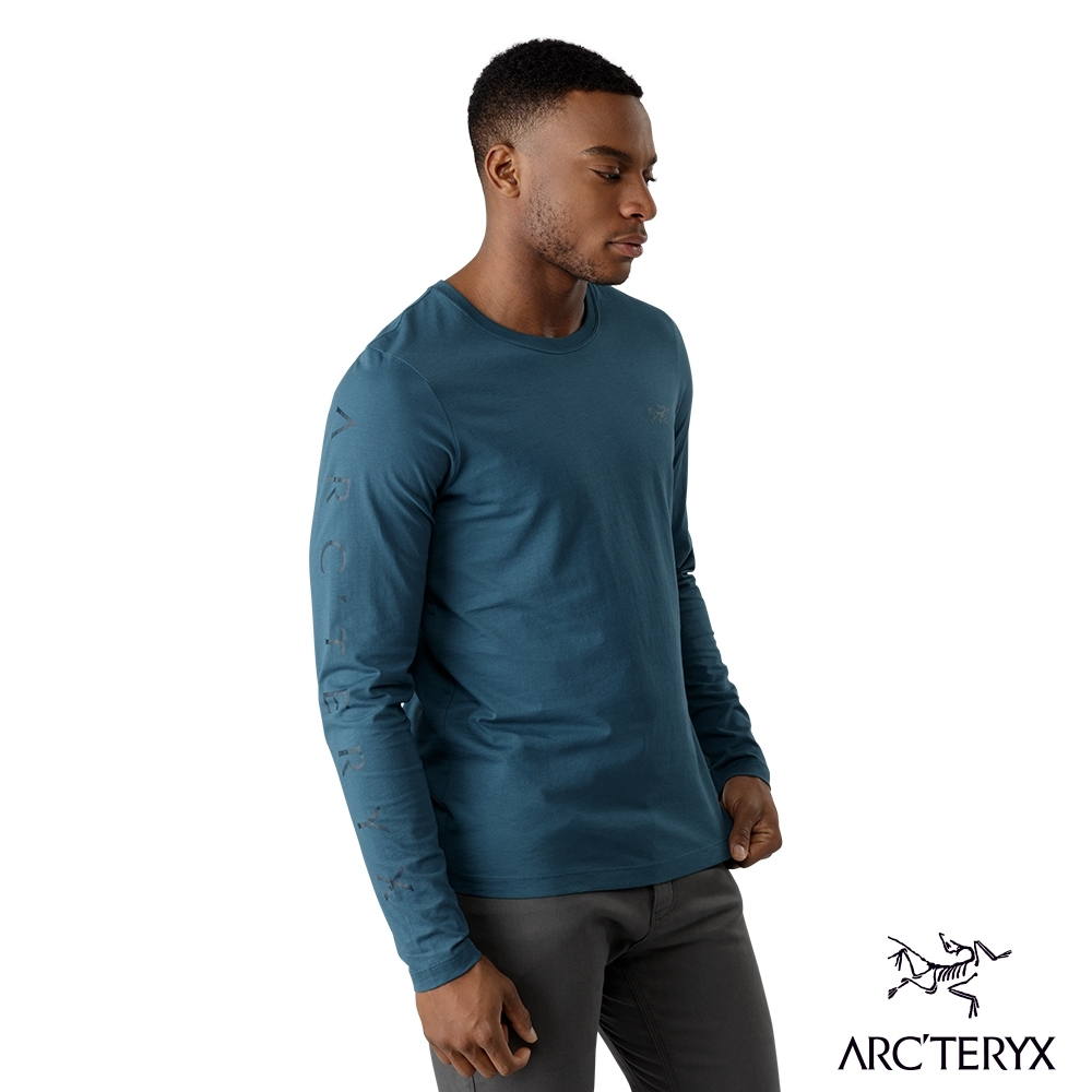 Arcteryx 始祖鳥 男 24系列 Downword 百分百有機棉 長袖T恤 藍