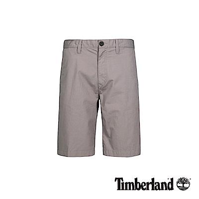 Timberland 男款淡麻灰色彈力卡其短褲|A1LV9