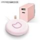 PROBOX 皇室萌貓 15W無線充電盤 + TypeC/A 雙孔USB 極速充電器 粉色 product thumbnail 1